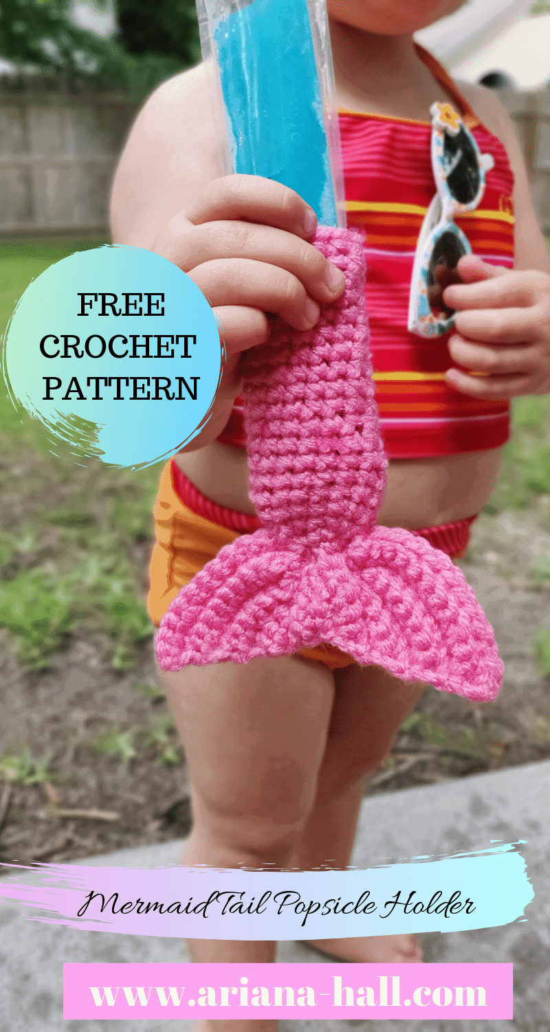 The mermaid popsicle tail crochet pattern holder complete