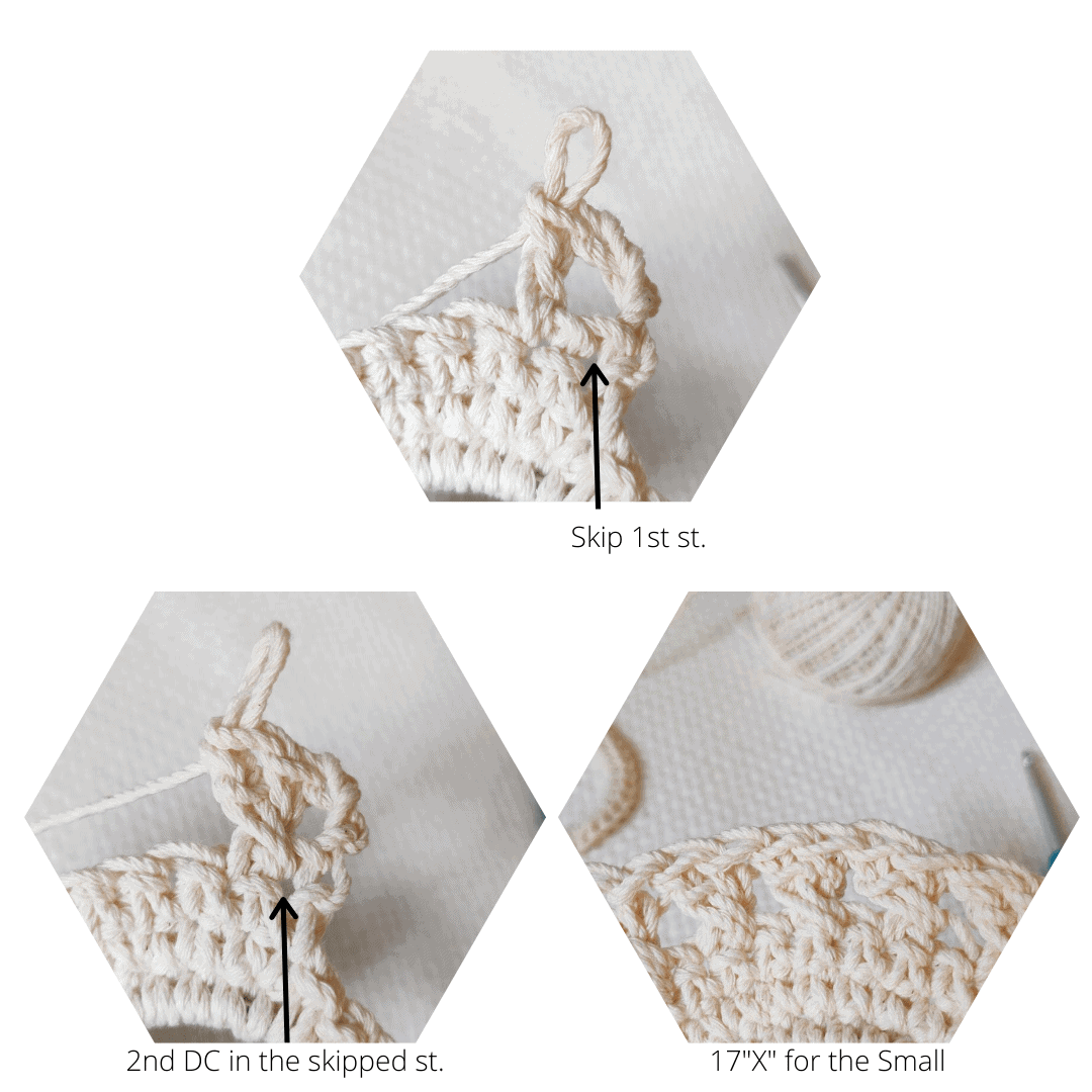 Step by step crochet technique.