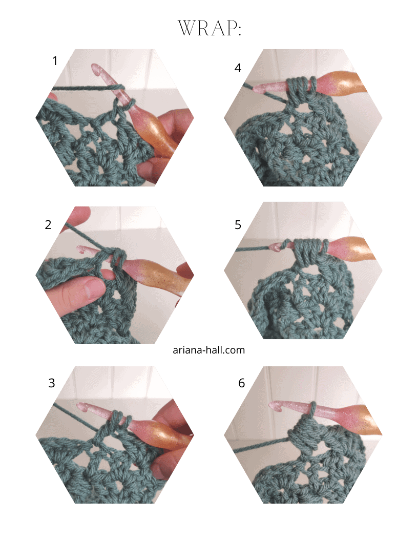Step by step crochet technique