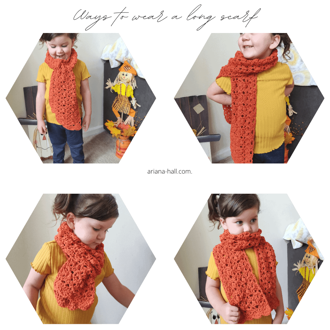 4 ways to wear a long scarf for kids