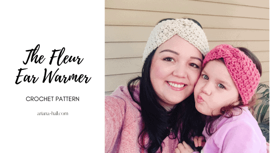 Mommy and me ear warmer set